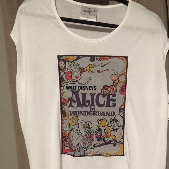 "Disney Tops - Disney ""Alice in Wonderland"" shirt"